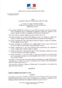Arrêté préfectoral organisant la lutte contre la flavescence dorée de la vigne 2019