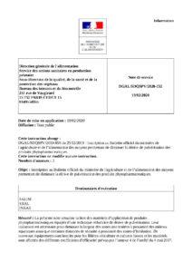 Liste du matériel de pulvérisation dérogatoire