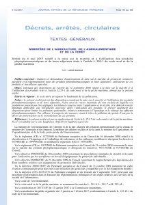 Arrêté préfectoral sur les produits phytopharmaceutiques