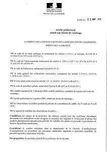 Arrêté préfectoral sur l'utilisation des produits phytopharmaceutiques
