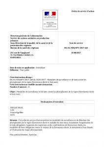 Note de service de la DGAl