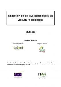 Plaquette sur la gestion de la flavescence dorée en viticulture biologique